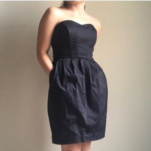 H&M strapless cocktail occasion dress
